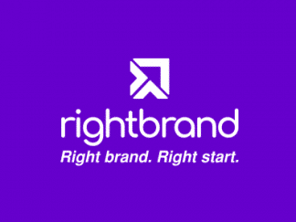 Rightbrand Logo purple background